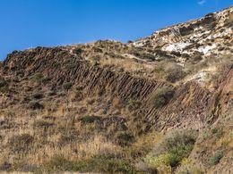 Säulenförmige Laven westlich vom roten Strand (c) Tobias Schorr