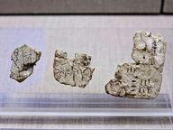 Minoische Schrift-Tafeln mit Linear-A-Schrift