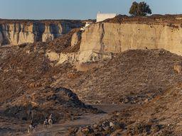 Der Steinbruch von Akrotiri - früher ein Highlight unserer geologischen Touren. (c) Tobias Schorr