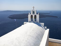 Die Kapelle Agios Georgios in Imerovigli. (c) Tobias Schorr