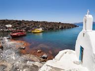 Die Kapelle Agios Nikolaos auf Palea Kameni (c) Tobias Schorr