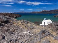 Die Kapelle Agios Nikolaos auf Palia Kameni (c) Tobias Schorr