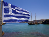 Touristenboote steuern Palia Kameni wegen den warmen Quellen an (c) Tobias Schorr