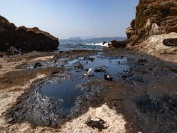 Die verseuchte Küste unterhalb von Megalochori/Santorin. (c) Tobias Schorr