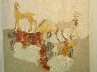 Minoische Wandmalerei mit Ziegen